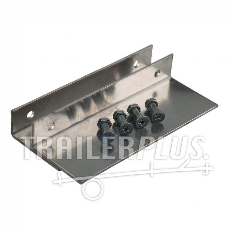 Aluminium beugel, anti-glij profiel tbv rijplaten