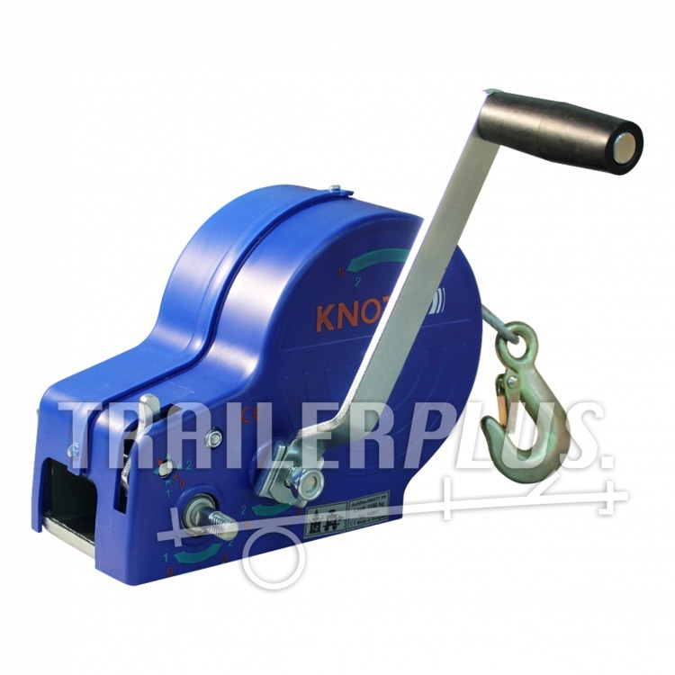 Bootlier/ handlier Knott 1150kg incl 10m staalkabel, ongeremd