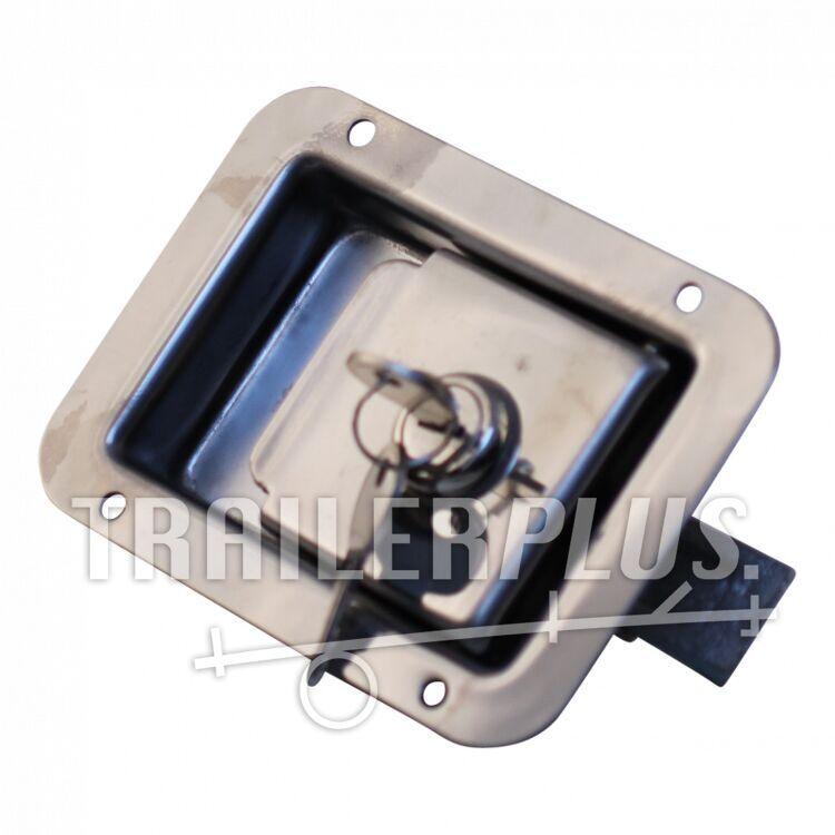 Kofferslot RVS inbouwgreep afsluitbaar 90*120