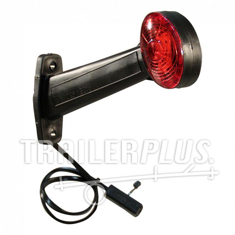 Breedtelamp pendellicht RADEX 930 LED rood wit 12v/24v