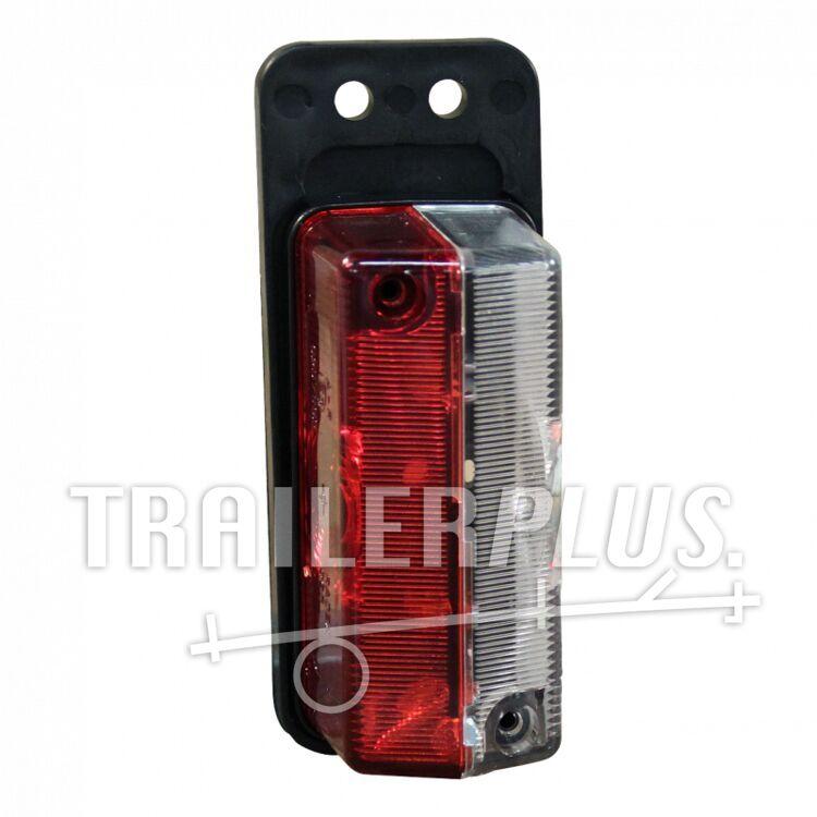 Markeringslamp rechthoek rood/ wit aan flap