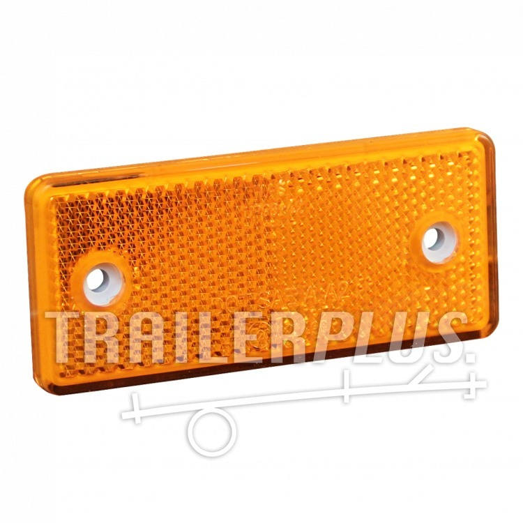 Reflector SCHROEF/PLAK,  oranje rechthoek, 90*40mm