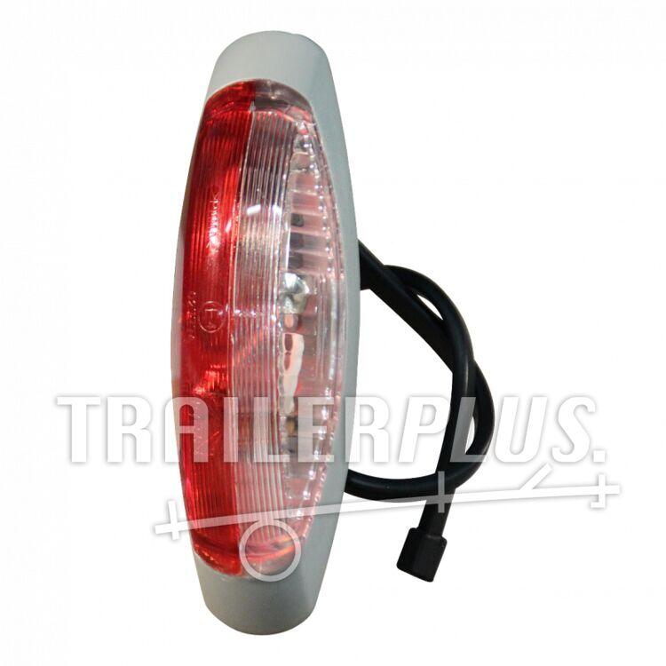 Contourlamp/ markeringslamp Aspöck Flexipoint II rood/ wit