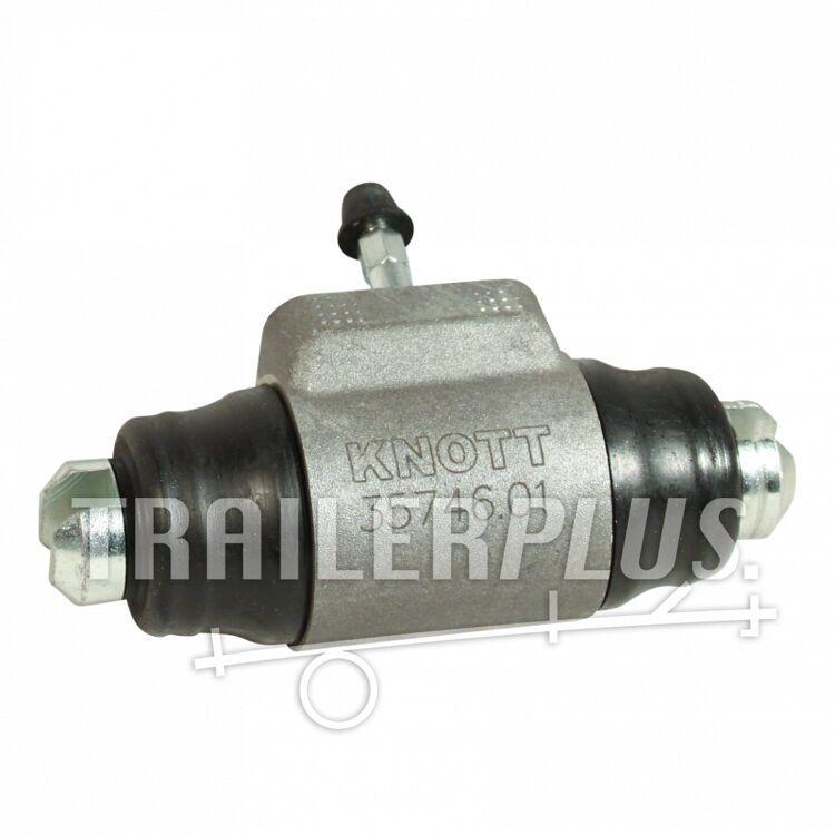 Remcilinder Knott Ø28,57mm wielrem 25-4066 ; 250x40 hydr.backmatic rechts