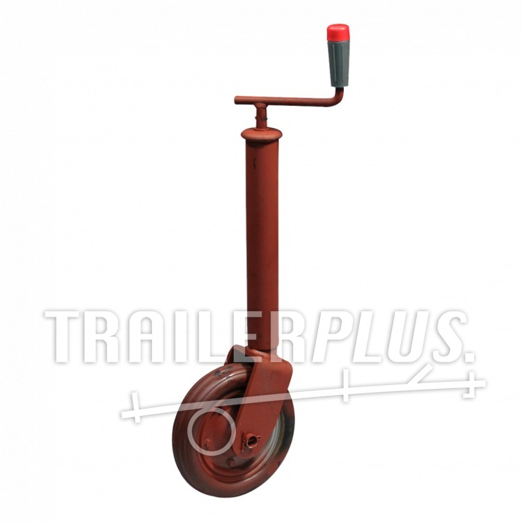 Steunwiel , niet opklapbaar, uitdraaibaar Ø48 wiel met rubber loopvlak Ø200x50 400 gemenied Simol