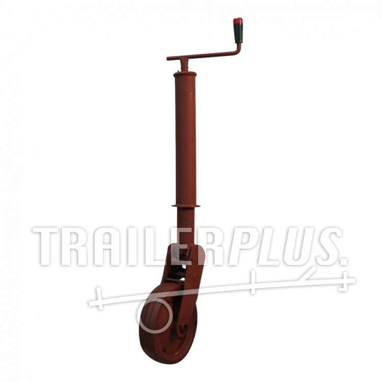 Steunwiel , automatisch opklapbaar en vergrendelbaar , Ø70 wiel met rubber loopvlak 1000 gemenied