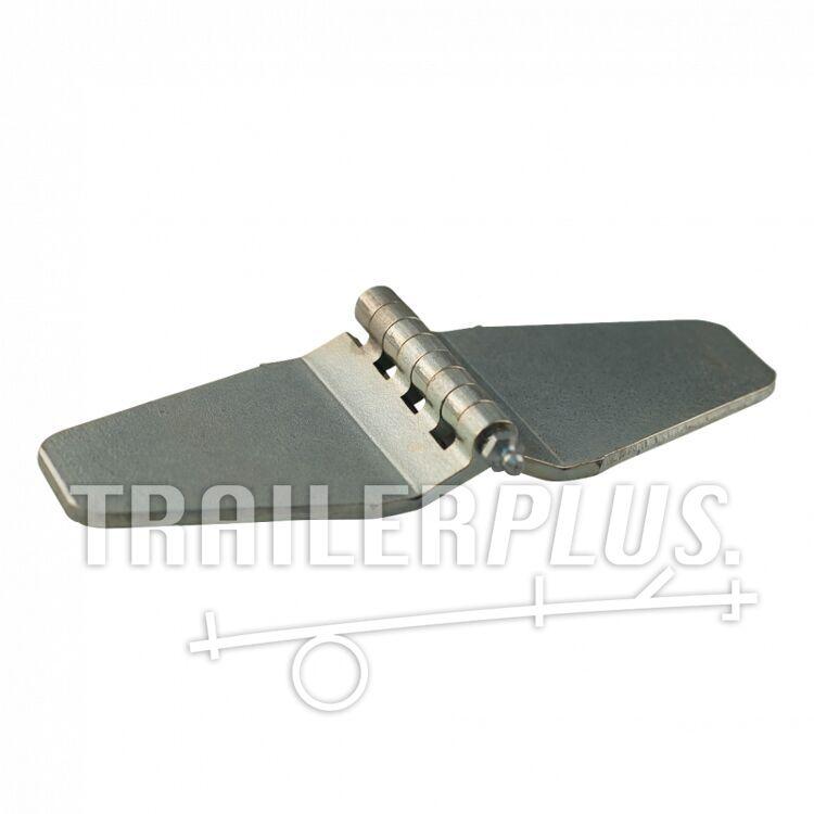 Vlinderscharnier met smeernippel , 80mm x 230mm , scharnierblad verzinkt
