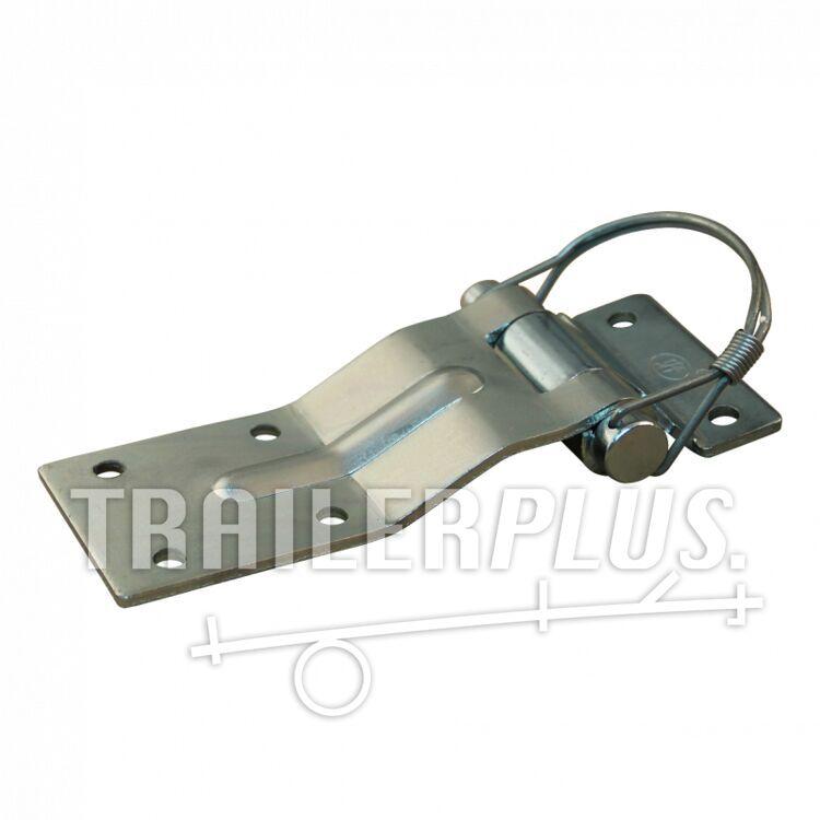 Deurscharnier portierscharnier , 61mm x 148mm , scharnierblad verzinkt demonteerbaar