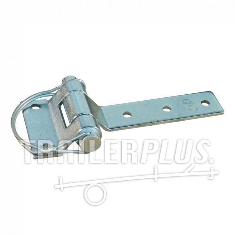 Deurscharnier portierscharnier , 61mm x 141mm , scharnierblad verzinkt demonteerbaar