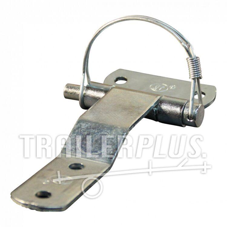 Deurscharnier portierscharnier , 71mm x 140mm , scharnierblad verzinkt demonteerbaar