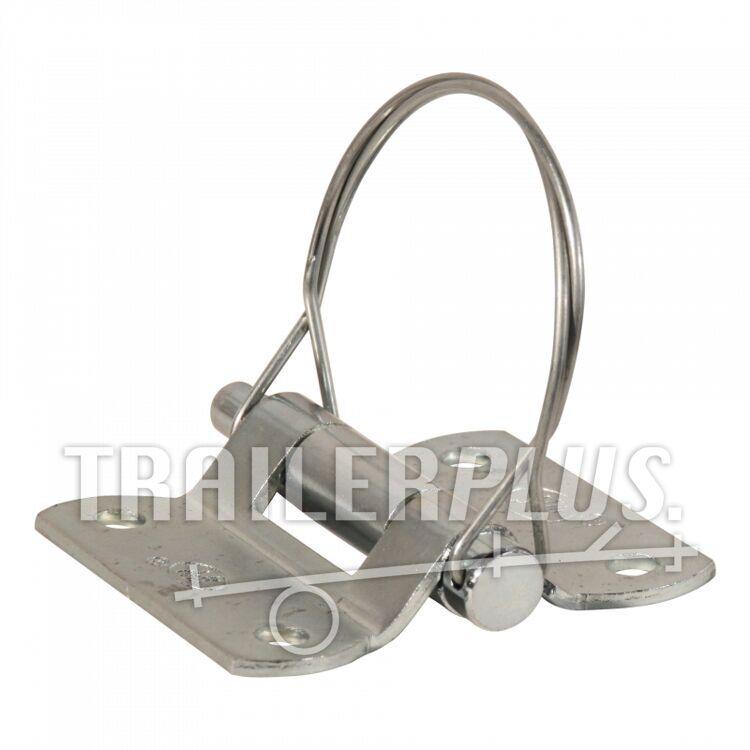 Deurscharnier portierscharnier , hartmaten 44mm x 53mm , scharnierblad verzinkt demonteerbaar