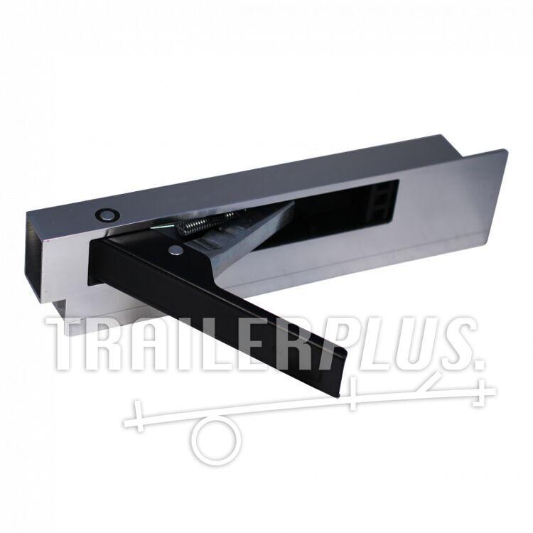 Bordsluiting zijbordsluiting , aluminium met stalen handgreep (zwart) 300mm rechts