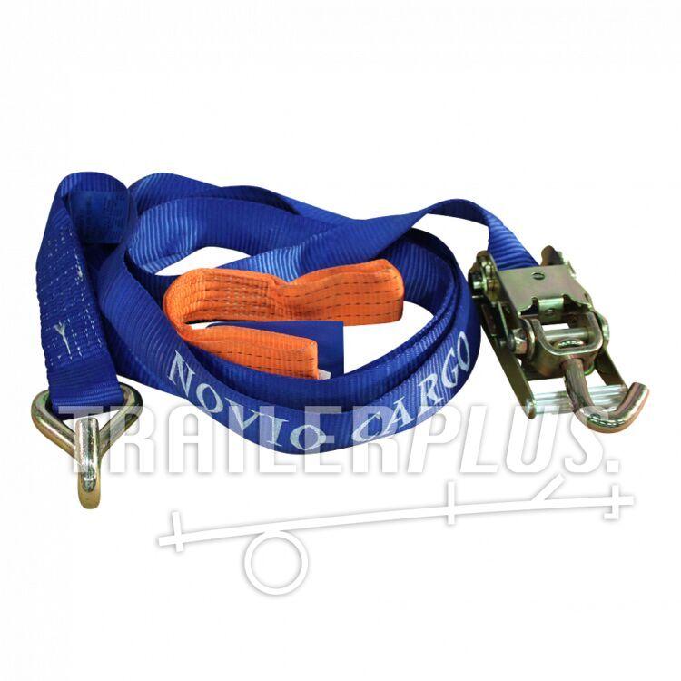 Spanband voor autotransporter met verbindingslus blauw/verbindingslus oranje 50mm x 3500mm Novio
