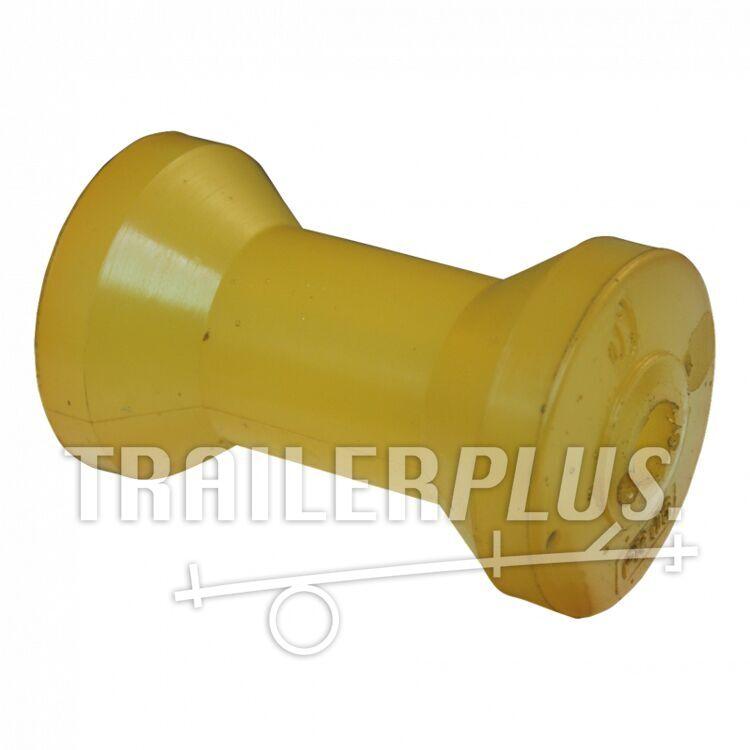 Kielrol polyurethaan geel Ø73mm 128mm Ø16,5mm