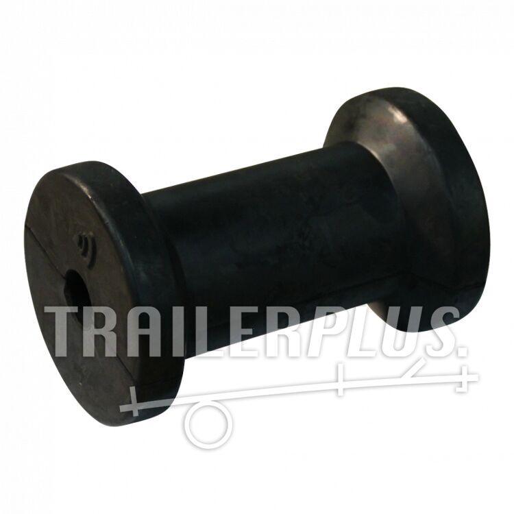 kielrol rubber zwart Ø77mm 121mm Ø17mm