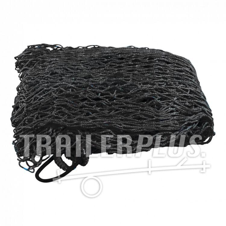 Aanhangwagennet met randelasetiek 2500x2000 blauw RAL 5015