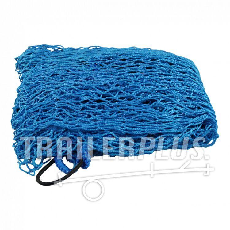 Aanhangwagennet 3500x1800 met elastiek blauw RAL 5015