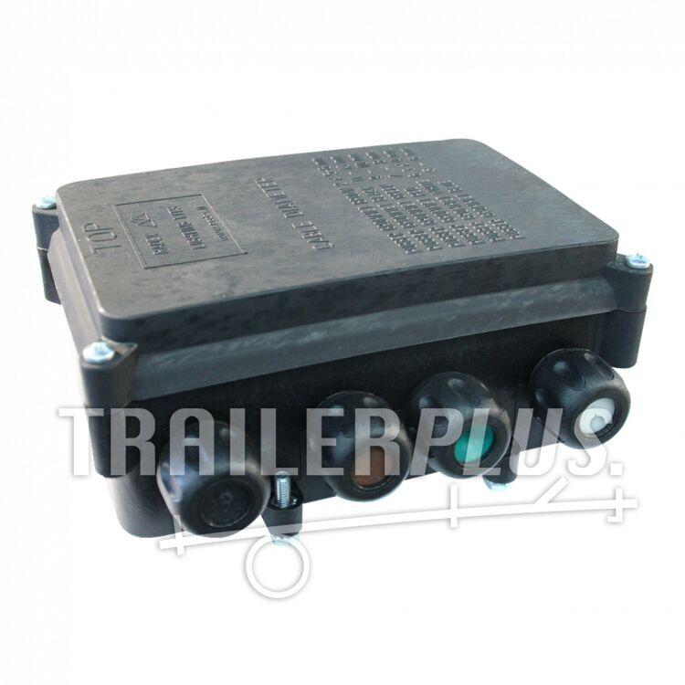 Kabelverbindingsdoos lasdoos 8-polig , AMP 6,3mm vlaksteker