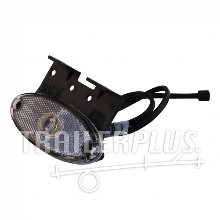 "Breedtelicht Aspöck Flatpoint II LED wit Inclusief montagesteun ""Z"" 90° DC Kabel 500mm"