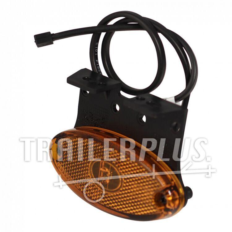 "Zijmarkeringslamp Aspöck Flatpoint II led Inclusief montagesteun ""Z"" 90° DC kabel 500mm"