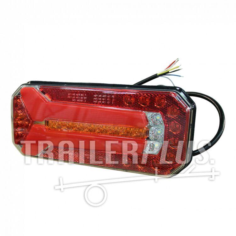 Achterlicht WAS W150 12-24V links en rechts toepasbaar kabel 2000mm 6 x 0.5mm²