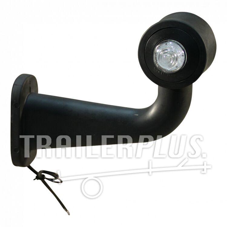 Breedtelamp stang haaks contourlamp WAS 138P / W21.5 rood / wit, rechts, 180mm, 2x075mm2