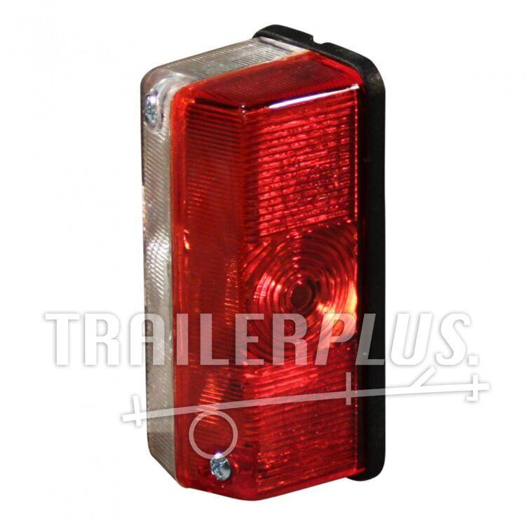 Contourlamp rood wit Geka SPL39 vlaksteker aansluiting