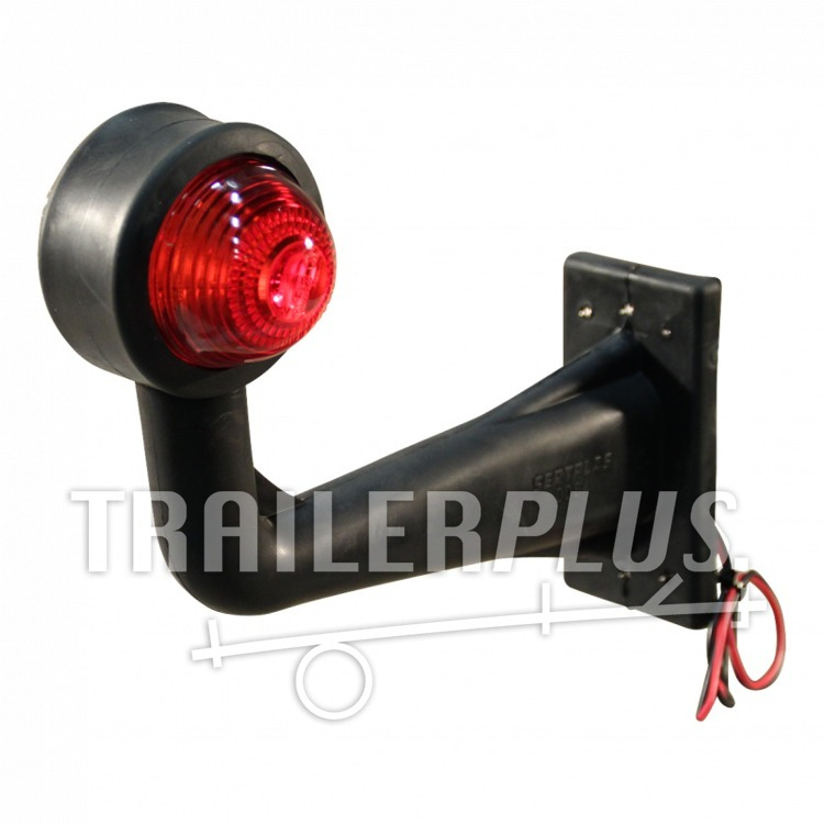 Contourlamp breedtelamp haaks rood wit Geka SPL20