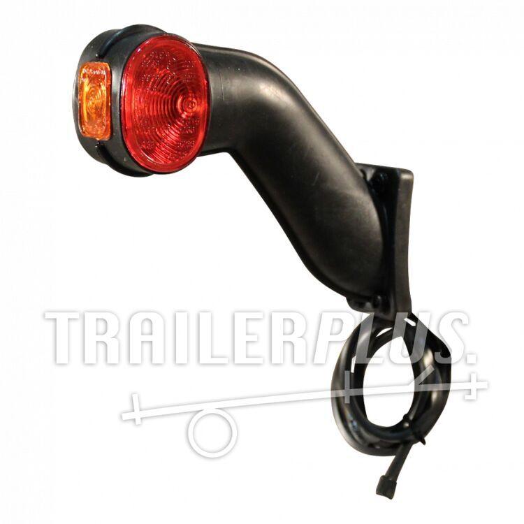 Breedtelamp stang schuin contourlamp Aspöck Superpoint II versie Ecopoint links, DC kabel 920mm