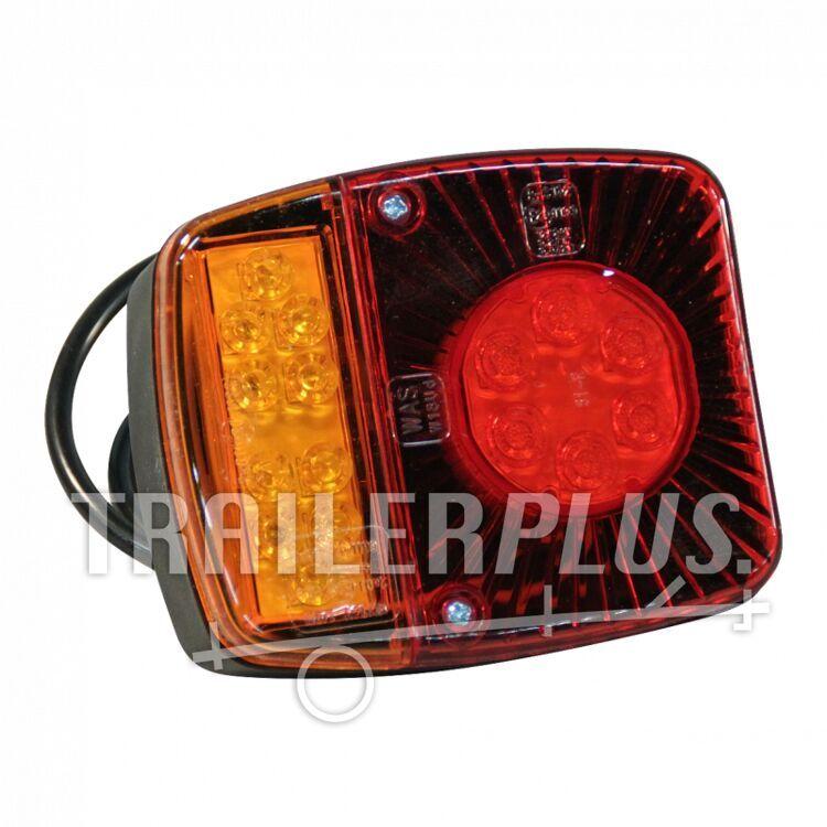 Achterlicht WAS 476 , LED 12V - 24V , links en rechts toepasbaar , kabel 2000mm  4 x 0,75mm²