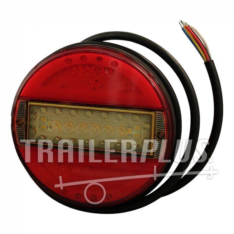 Achterlicht WAS 742 , LED 12V-24V , links en rechts toepasbaar , kabel 2000mm 6 x 075mm²