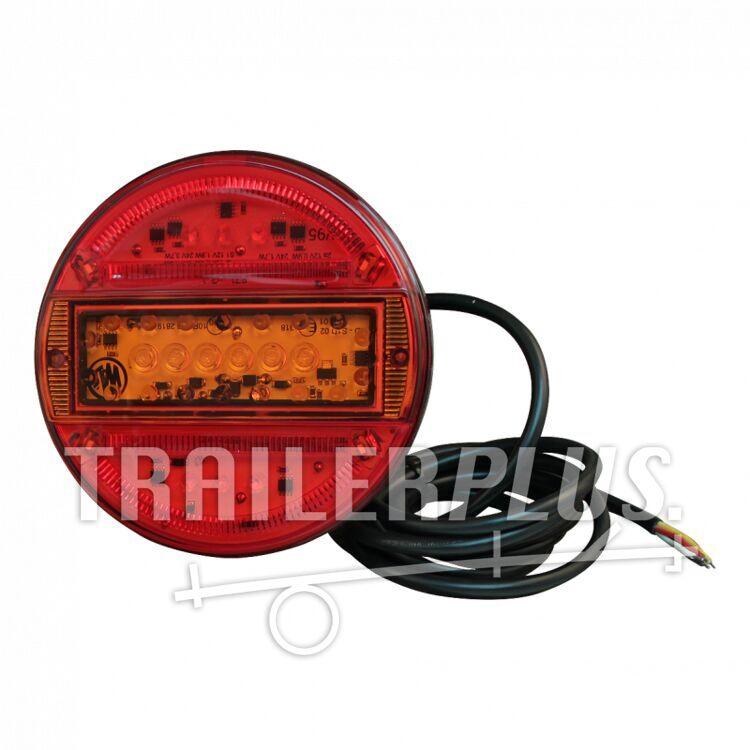 Achterlicht WAS 744 , LED 12V-24V , links en rechts toepasbaar , kabel 2000mm  4 x 0,75mm²