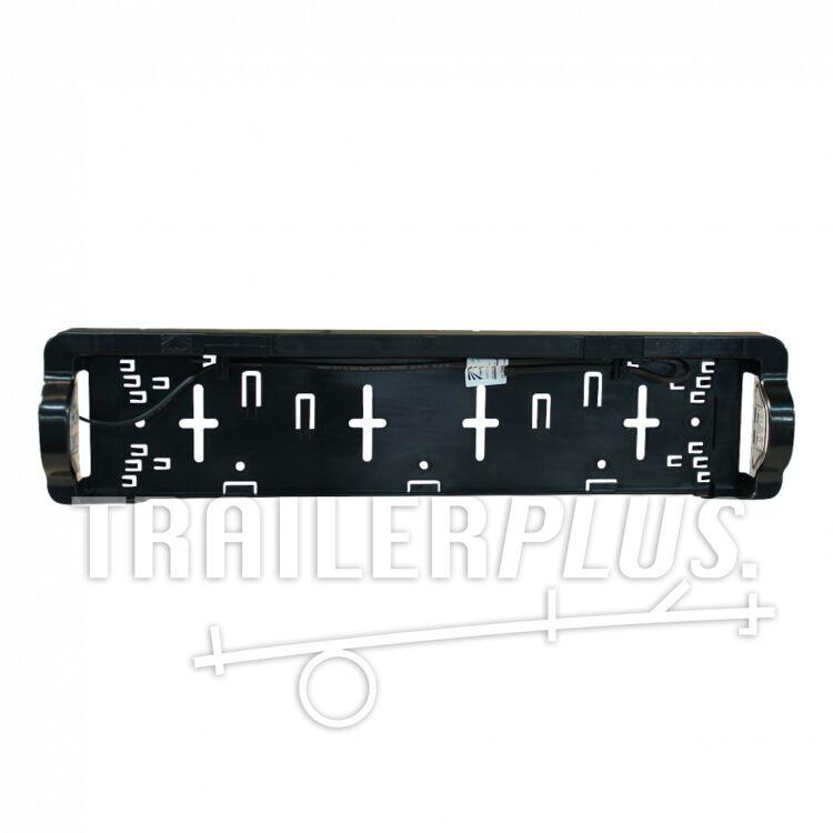 Kentekenplaathouder+kentekenverlichting Aspöck LED DC 800mm