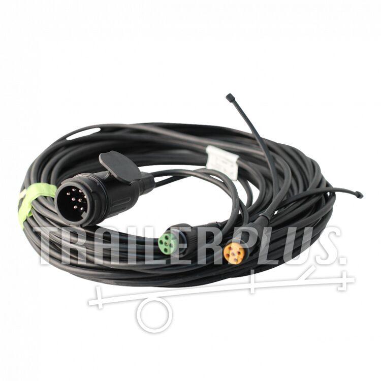 Kabelboom kabelset 13-polig 9,0m , bajonet 5-polig , vertakking 2x 0,2m DC Aspöck