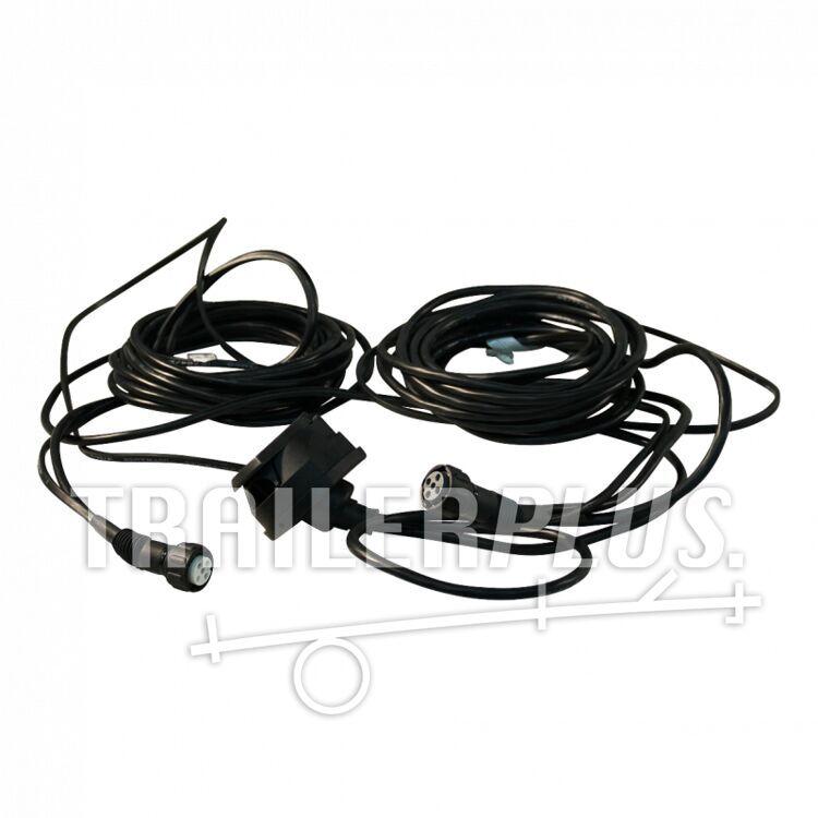 Kabelset met stekkerdoos 7-polig 6.000 bajonet 5-polig , vertakking 2x 3,1m DC