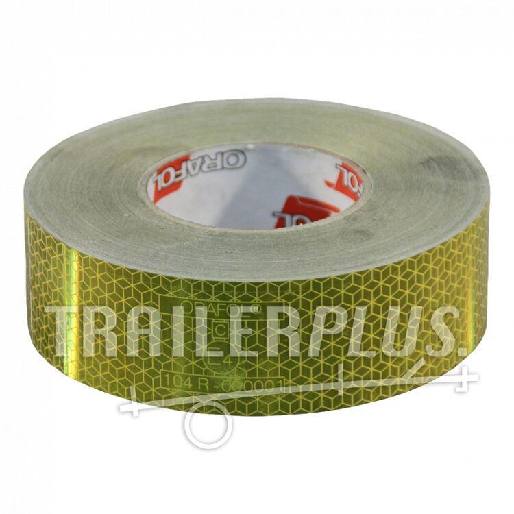 Refelcterende tape  >3500kg 50mm x 50mtr geel