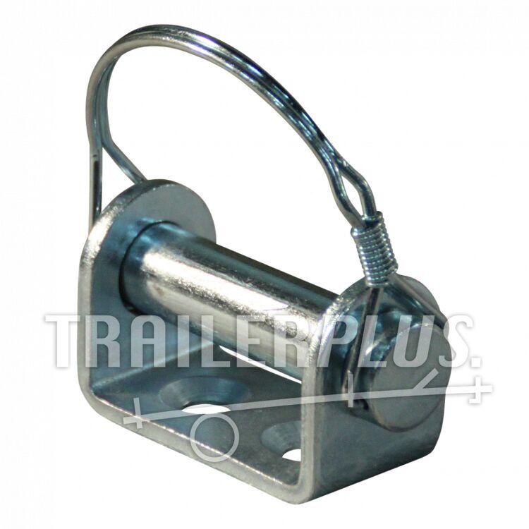 Montagebeugel klepscharnier , boutbaar verzinkt Ø16mm