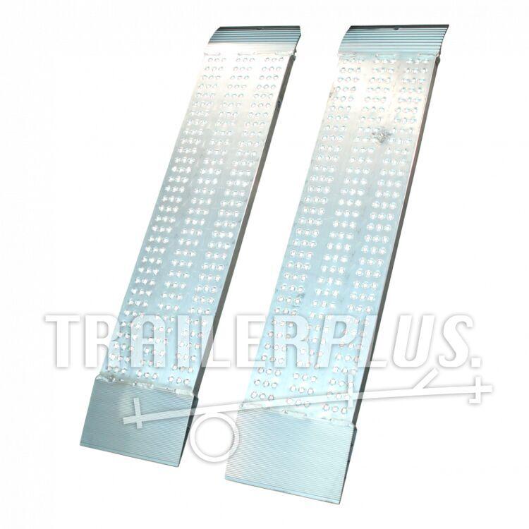 Set oprijplaten recht aluminium 2500 x 315 x 55