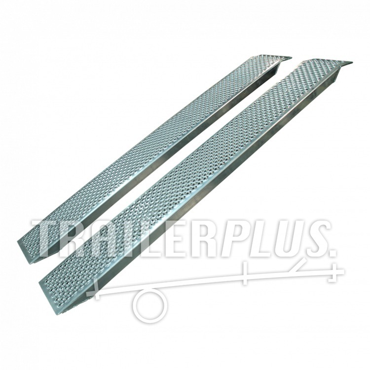 Set oprijplaten recht aluminium 2500 x 260