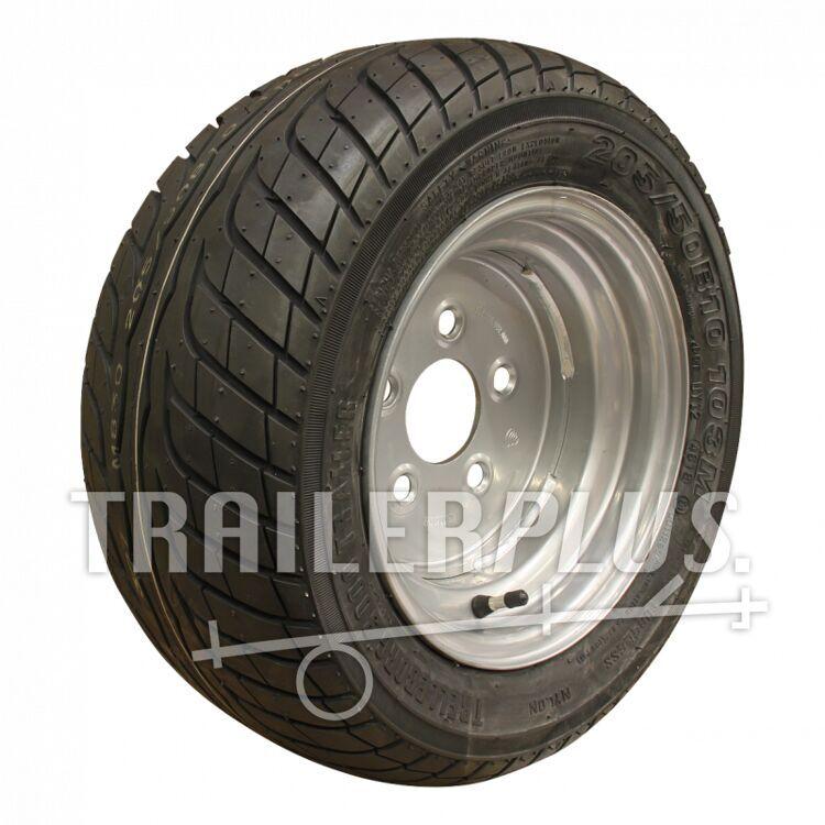 Compleet wiel,  205/50 B10 Trelleborg 3000 trailer + 6.00Ix10H2 ET-4 67/112/5 103 M staal, grijs,