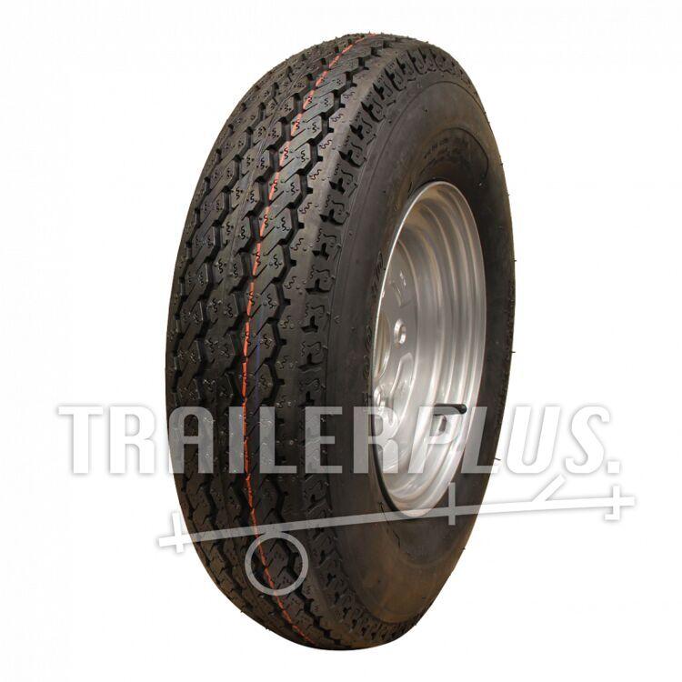 Compleet wiel, velg met band 4.50-10 KT-715 6PR + 3.50Bx10H2 ET0 60/100/4 76 N staal, grijs