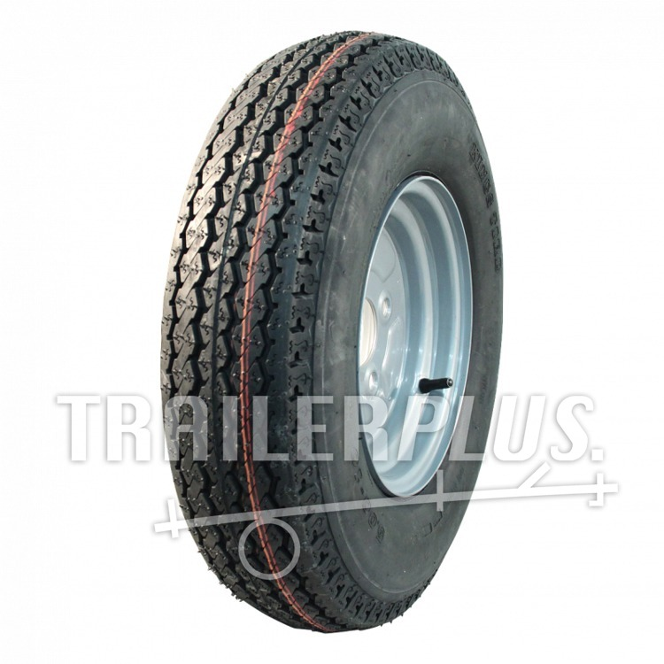 Compleet wiel 4.50-10 KT-715 4PR + 3.50Bx10H2 ET0 85/115/4 69 N staal, grijs,