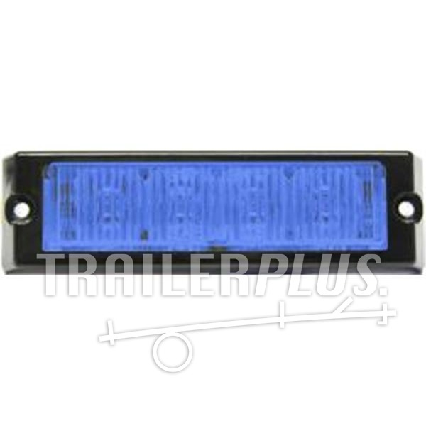 Stroboscoop 12V / 24v Blue 4 led