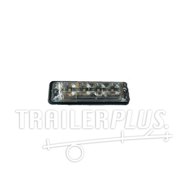 Stroboscoop 12/24v Amber 4 led plat model