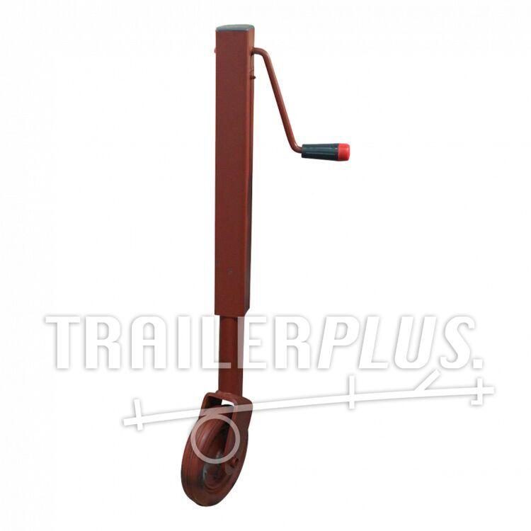 Steunwiel , niet opklapbaar 60 wiel met rubber loopvlak Ø200x50 600kg gemenied zijslinger Simol