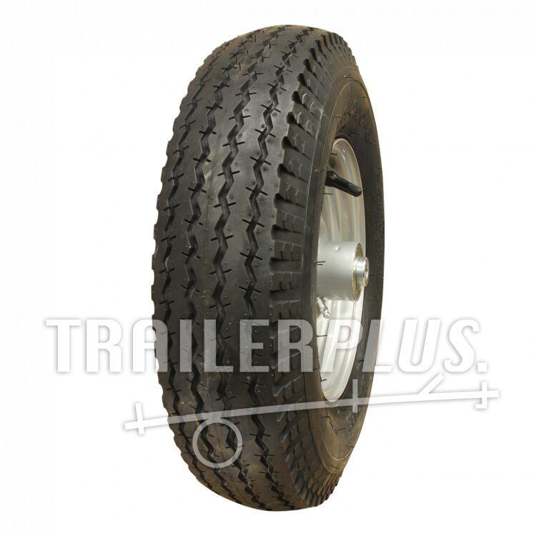 Compleet wiel, velg met band 4.80/4.00-8 S-6003 6PR + WESTFALIA 2.50x8 ET0 kogellager