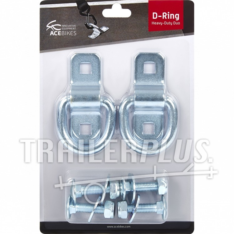 Acebikes sjoroog D ring Heavy Duty set a 2 stuks, incl. boutset