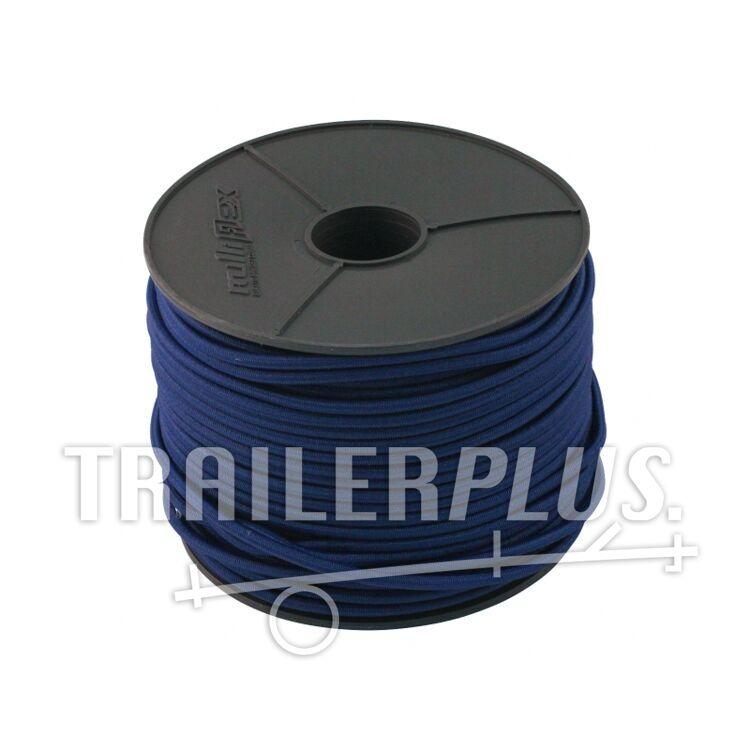 Elastisch touw 6 mm Rol 100m , BLAUW