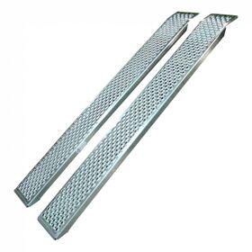SET Oprijplaat/ oprijplank licht, aluminium cap. 400kg,   150cm set a 2 stuks
