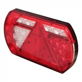 Achterlicht LINKS rechthoek LED 12/24 met driehoek Lucidity  'aspock' connector